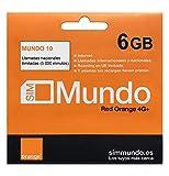 Orange - Tarjeta SIM Prepago (Mundo-10) 6 GB en España | Llamadas Nacionales ilimitadas | 5,5 GB Roaming en Europa | Activación Online | Velocidad 4G