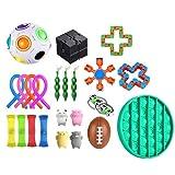 miss-an Sensory Fidget Toy Set de 24 piezas, juguete para la ansiedad, juguete para la ansiedad, juego de juguetes para niños y adultos