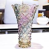 wysm Jarrón de cristal colorido bohemio Flor de bambú grande rico del lirio Cultura...