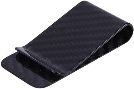 Anself Real Carbon Fiber Money Clip Business Card Credit Card Cash Wallet (Polished and Matte) (1#)