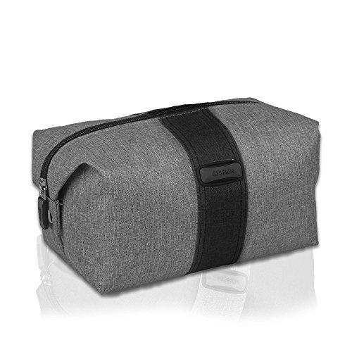 GYSSIENGYSSIEN - Bolsa organizadora de artículos de tocador de viaje, resistente al agua, kit de afeitado para hombres y mujeres, Gris, 1.00[set de ]