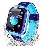Winnes Smartwatch Niños, Reloj Inteligente para Niños Impermeable ip67 con LBS, Hacer Llamadas, Chat de Voz, SOS, Cámara, Juegos para Niño niña de 3 a 12 años Compatible con iOS/Android(Azul)