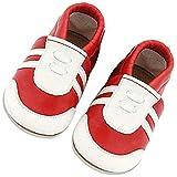 Lvptsh Chaussures Bébé Fille Premiers Pas Chaussures Cuir Souple Bébé Garçon Mocassins Enfant Chaussures de Marche Chaussons Semelle Souple Antidérapante 0-24 Mois
