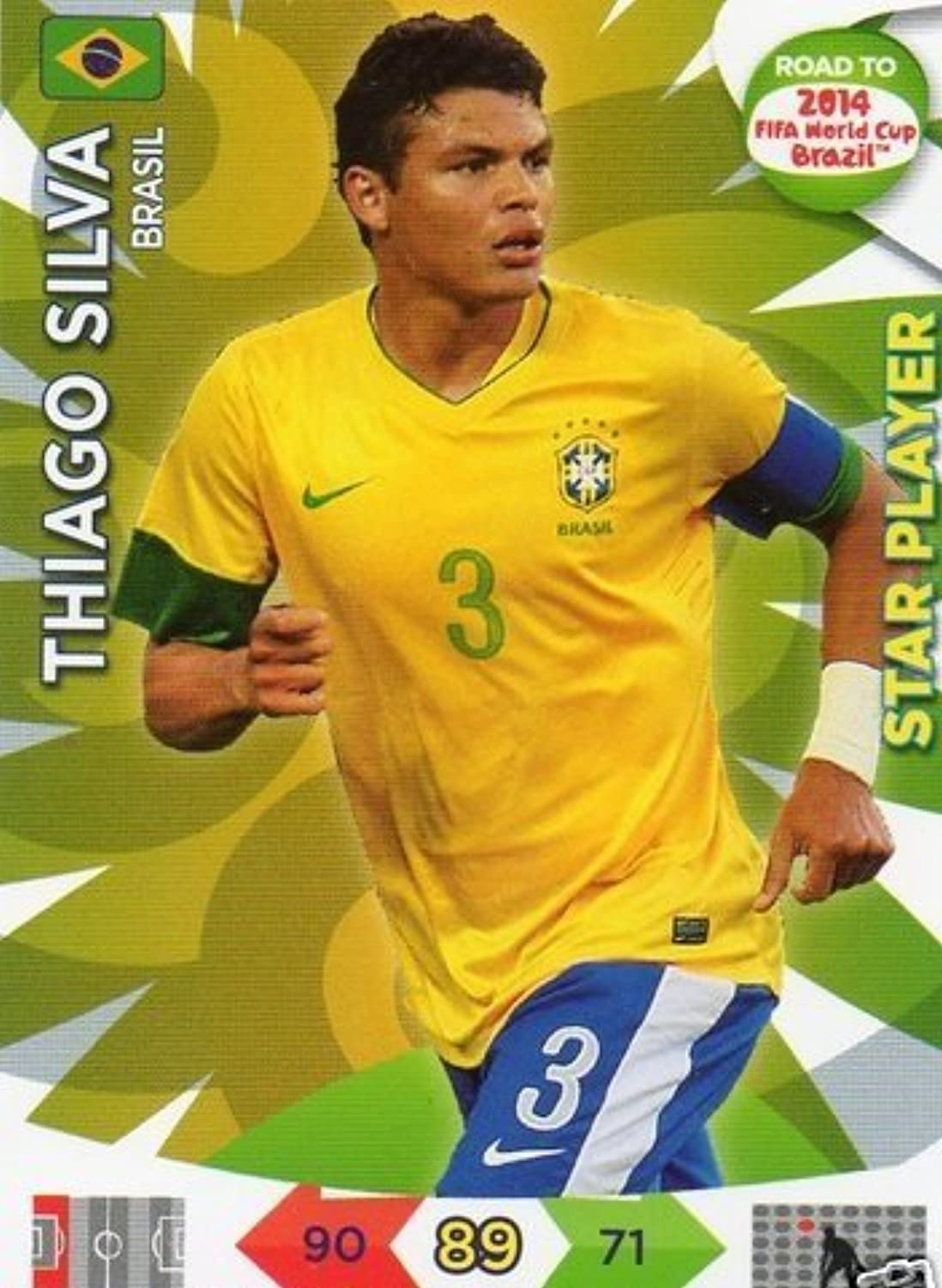 Adrenalyn XL Road To 2014 World Cup Brazil 16 Thiago Silva Star Player