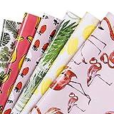 RUSPEPA Geschenkpapier Blatt - Flamingo