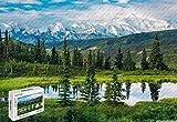 500 Piece Jigsaw Puzzle - Alaska Range Beautiful Mountain Landscape Wood Materials,20.6 X 15.1 Inch