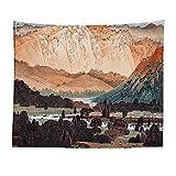 YWRD Tapestry Wandteppich Mandala Wandbehang Indisch Afrikanische Wandkunst Wandbehang Dekoration Bohemien Schlafzimmer Wandkunst Boho Wandbehang Wohnzimmer Dekor