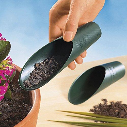 TRI Umtopf-Hilfe, 2 Stück, Umtopf Garten Hilfe für genaue Dosierung der Blumenerde