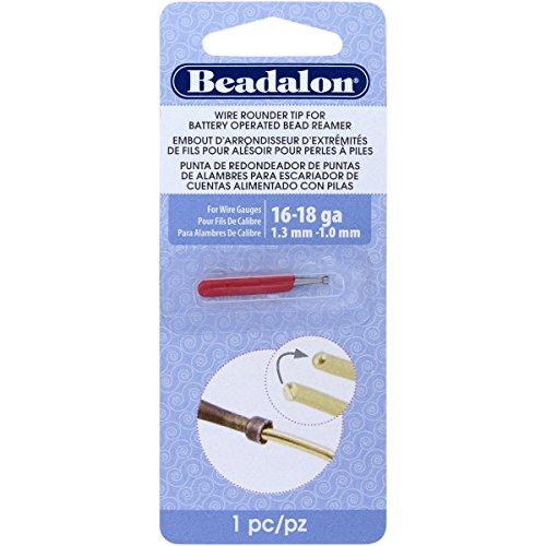 Beadalon Wire Rounder - Accesorio para Rebabas con escariador de Cuentas a Pilas y Cables de Calibre 16, 18 y más pequeños
