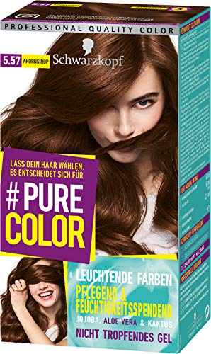SCHWARZKOPF #PURE COLOR Coloration 5.57 Ahornsirup Stufe 3, 1er Pack (1 x 143 ml)