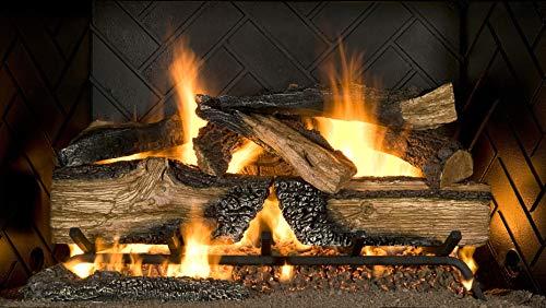 "Sure Heat CS30DBRNL-60 Vented Gas Log Set, 30"", Oak"