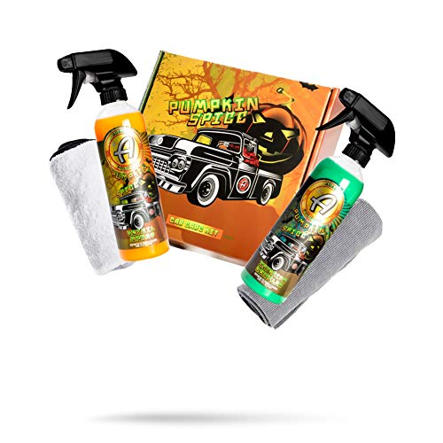 Adam's Pumpkin Spice Car Care Box Collection - Limited Edition Car Wash Kit & Auto Detailing Kit | Pumpkin Spice Scented Interior Detailer & Detail Spray | Car Wax Spray & Interior Car Seat Cleaner