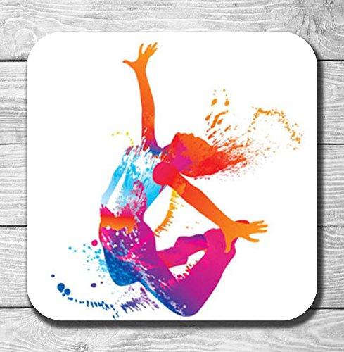coloré Dancer Jump Cadeau en bois Dessous-de-verre