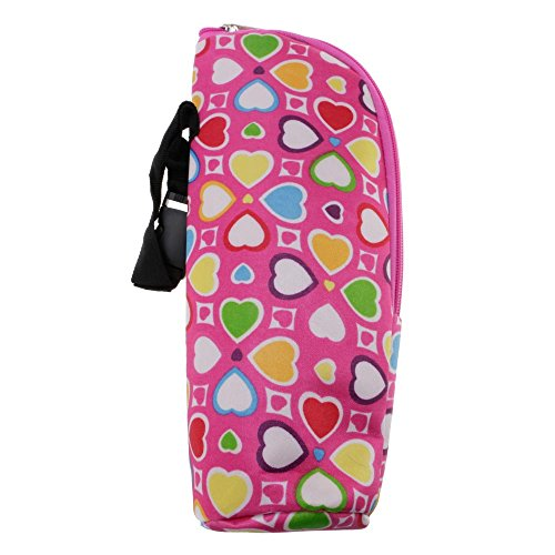 VANKER ?Poussette de bébé Portable durable Hang Sac Sac pour Biberon - Coeur Rose Rouge