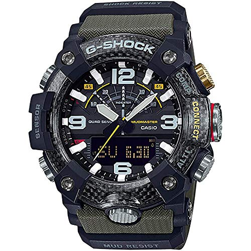 Casio GGB100-1A3 Master of G Mudmaster Men's Watch Green 55mm Carbon