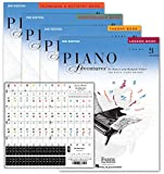 Piano Adventures Level 2A Learning Library Set By Nancy Faber - Lesson, Theory, Performance, Technique & Artistry Books & Juliet Music Piano Keys 88/61/54/49 Full Set Removable Sticker