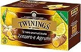 Twinings Tè Aromatizzati - Zenzero e Agrumi - Tè Nero dalle Noti Piccanti dello Zenzero e Profumo Fresco di Limone e Bergamotto - Sapore Avvolgente e Brioso (50 Bustine)