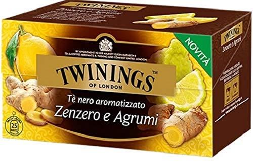 Twinings Aromatisierter Tee - Ingwer und Zitrus - Schwarzer Tee mit würzigen Noten von Ingwer und frischer Zitrone und Bergamotte - Umhüllender und lebendiger Geschmack (50 Beutel)