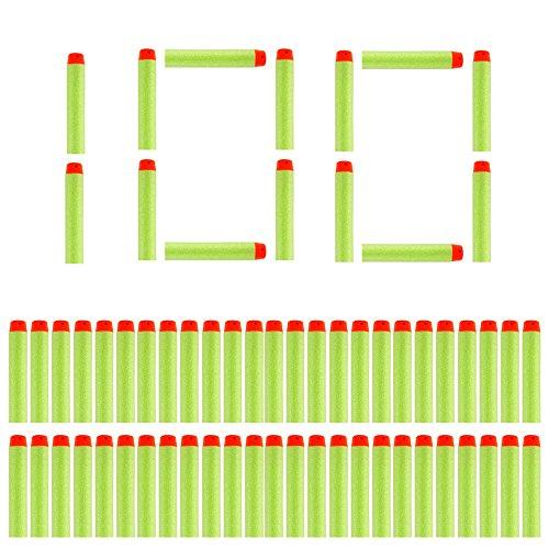 Little Valentine 100 Stück 7,2 cm Refill Darts Foam Pfeile Ammo Pack für Nerf N-Strike Elite Zombie Strike Rebelle - Grün