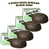 Dudu-Osun African Black Soap (100% Pure) Pack of 4 Body Care / Beauty