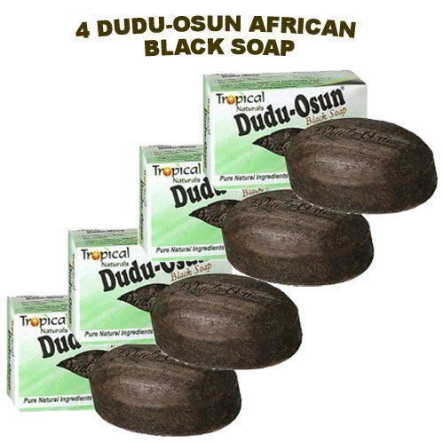 Dudu-Osun African Black Soap (100% Pure) Pack of 4 Body Care/Beauty Care/Bodycare/BeautyCare by Sponsei