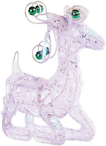 Lunartec Weihnachten Deko: Santa Claus\' Rentier Dasher, liegend, beleuchtet (blau) (Weihnachtsleuchten)