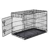 AmazonBasics - Jaula para perros plegable, de metal, una puerta, 76 cm