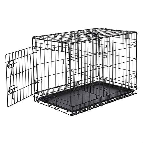 Amazon Basics - Hundekäfig mit 1 Tür, Metall, zusammenklappbar, 76,2cm