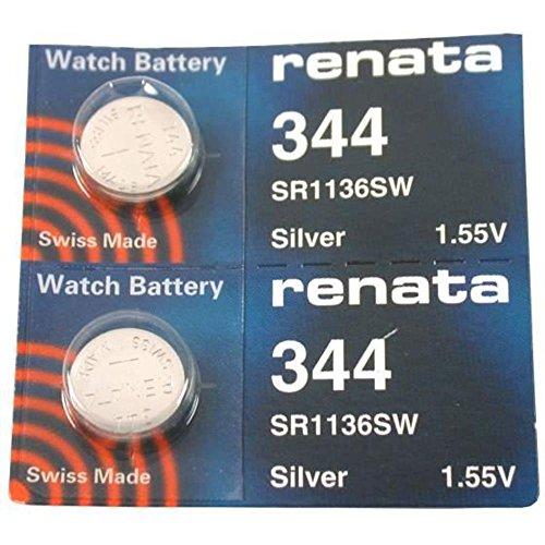Renata - Pilas #344 para reloj. 2 unidades