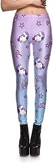 M-ONEZOU 3D Printed Fitness Push Up Workout Leggings Women Gothic Unicorn Rainbow Doughnut Plus Size High Waist Punk Rock Pants