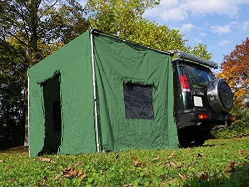 Prime Tech Seitenwände zur Dachzelt-Markise grün 250x200x210cm