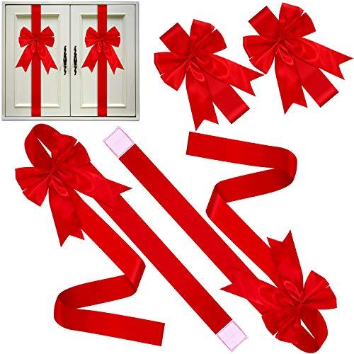 Christmas Cabinet Ribbon And Bows
