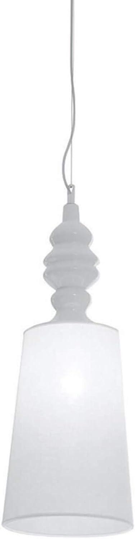 Karman alì e babà, lampada a sospensione Ø25 cm,in  lino bianco e ceramica SE623BS