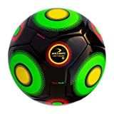 Millenti Team Youth Training Soccer Ball Indoor/Outdoor - Black Green Yellow Size 4 - SB0204BK / SB TY BLK