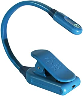 The Original Mighty Bright WonderFlex Clip On Book Light Reading Light, Warm Eye Care LEDs, Super Flexible, Durable, Dimmable, Perfect for Kids, Bookworms, Read in Bed, Batteries or Micro USB (Blue)