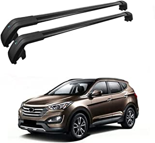 MotorFansClub Roof Cargo Bars Baggage Top Roof Rail Crossbars Luggage Ladder Bike Load Roof for Hyundai Santa Fe 2013 2014 2015 2016 2017 2018 US Stock