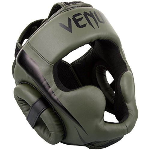 VENUM Elite Casco de Boxeo, Unisex Adulto, Caqui/Negro, Talla Única