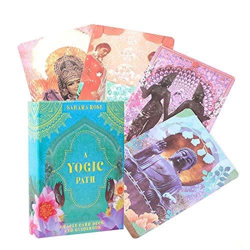 54pcs A Yogic Path Oracle Cards, Inglés, Juegos de Mesa Tarjeta Family Party Entertainment Tarot Cards Oracle, Adivination Card Game, Pdf Guide