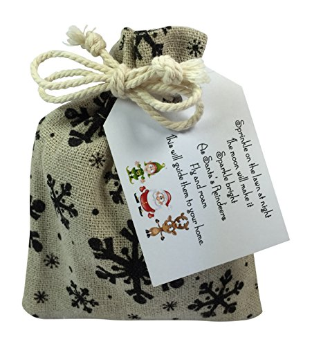 Libby's Market Place Reindeer Dust Reindeer Food in a Snowflakes Gift Bag - Christmas Eve Box Fillers For Children