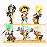 anzhcz 6 unids / Set Figuras de diseccionables Ocultas de Freeny de una Pieza Luffy Robin Sanji Zoro Chopper Usopp 8-10 CM