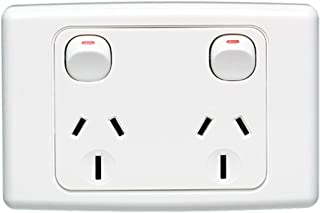 Double Power Point Wall Socket Outlet GPO 10A Amp 240V SAA Approved