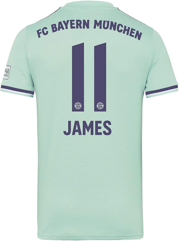 Adidas Bayern München Away Trikot 2018 2019 + James 11