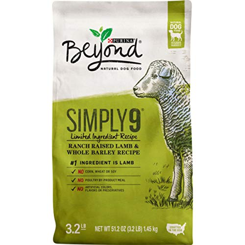 Purina Beyond Limited Ingredient, Natural Dry Dog Food, Simply 9 Ranch Raised Lamb & Barley Recipe - 3.2 lb. Bag