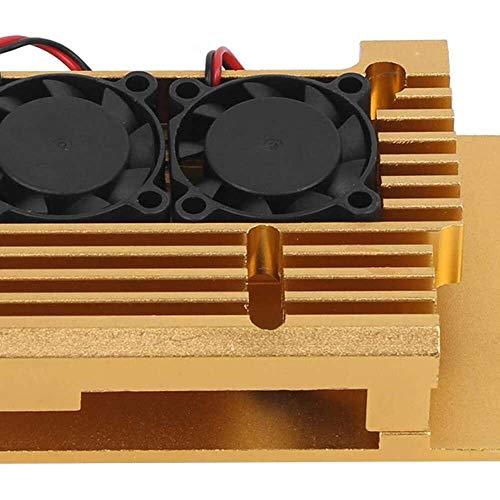 Yuyanshop Funda para Raspberry Pi, caja de protección para Raspberry Pi 3 Modelo 2b/3b Disipación de calor caso accesorio W/ventilador de refrigeración dual