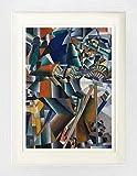 1art1 Kazimir Malévich - El Afilador de Cuchillos Principio de la Animación, 1913 Póster De Colección Enmarcado (40 x 30cm)