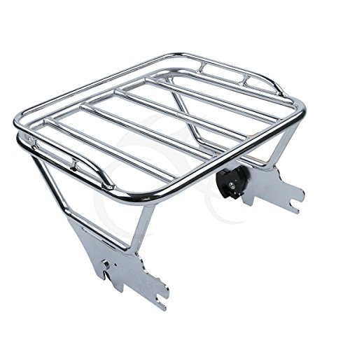TCMT Detachable Chrome Luggage Rack Fits For Harley Touring Street Glide Road King 1997-2008