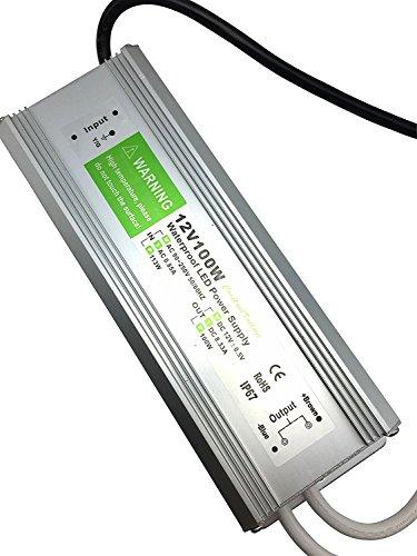 YXH® Transformador 100W LED Tira Módulo luces Conductor 12v Fuente de alimentación iluminación exterior impermeable Ac 90-265v iluminación transformador