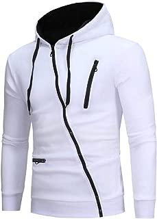 Men Hoodies, Mens Sport Lightweight Zip-up Hooded Sweatshirt Pullover Jacket Coat Solid Tops Blouse WEI MOLO