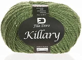 Killary tweed, Ferner wolle, merino cashmere tweed, light green 7, bulky yarn, 50 grams 104 yrds