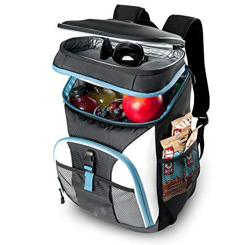 AKT Cooler Sac à Dos Pique-Nique Boîte Isolée Etanche Sac de Glace Sac Emballage Frais Forfait Repas